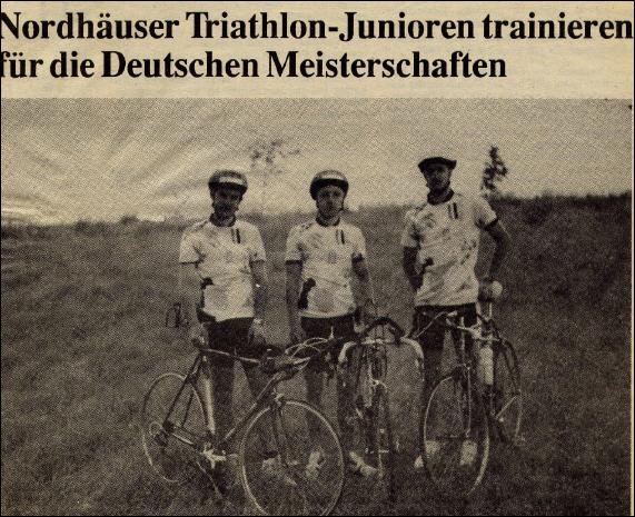 August 1991, v.l. B.Stiller, U.Konschak, S.Kopf - Foto: privat