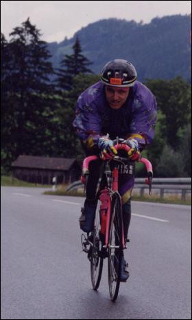 U.Konschak bei den Deutschen Meisterschaften 1992 Halb-Ironman-Distanz in Immenstadt-Allgäu - Foto: privat